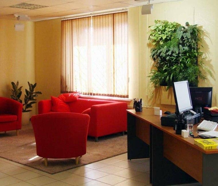 computadora rojo mobiliario sillones amarillo