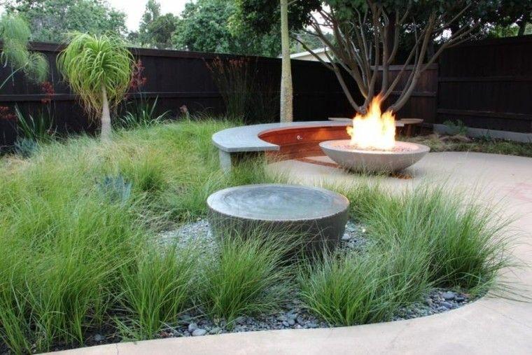 confort hierbas decorativas patio fuego