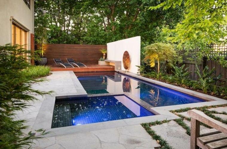 confort piscina muro madera muro