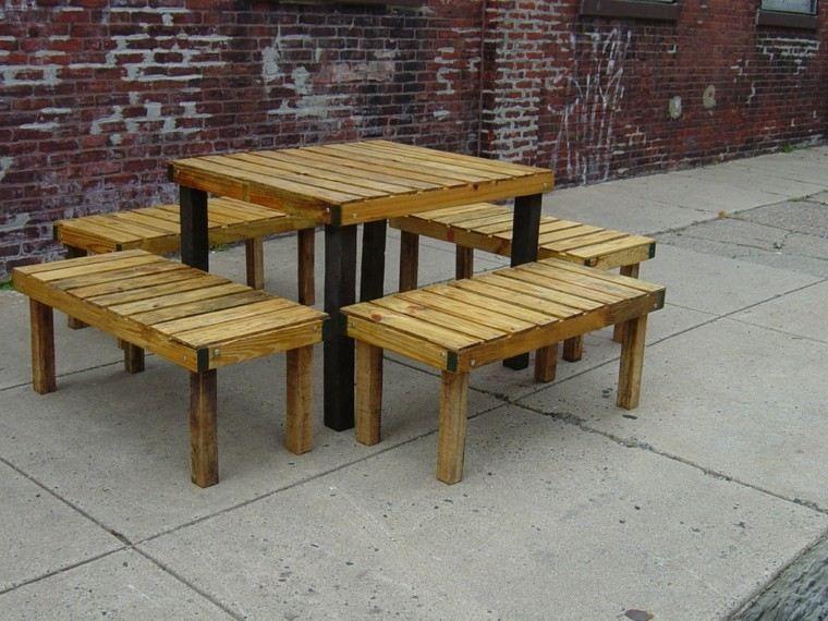 conjunto muebles terraza comedor pallets