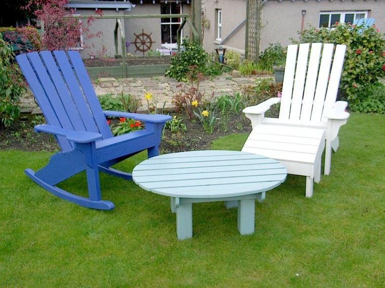 conjunto muebles jardin madera balancin