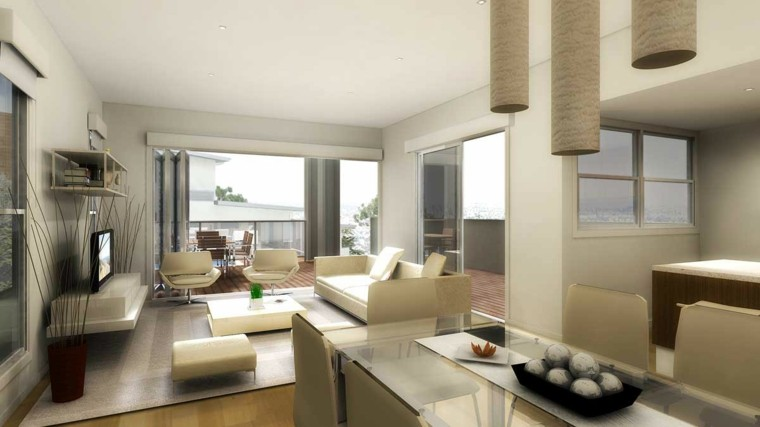 conjunto muebles salon color beige