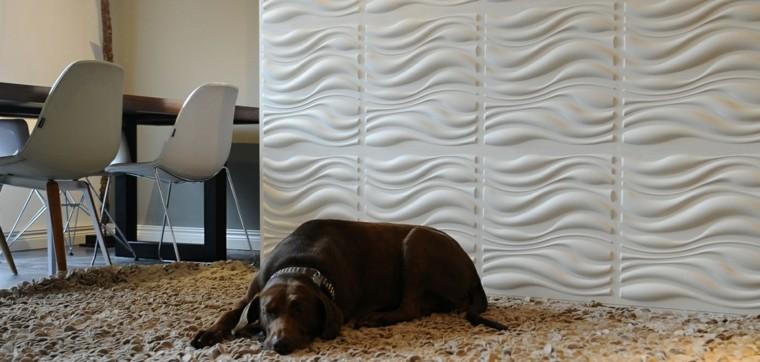 Pared dise o y texturas 50 ideas para ser diferentes - Materiales para forrar paredes interiores ...