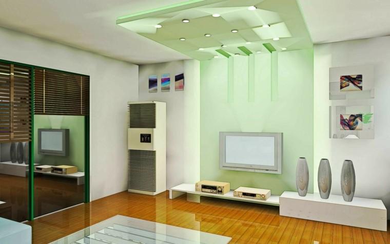 cristal color verde deco salon