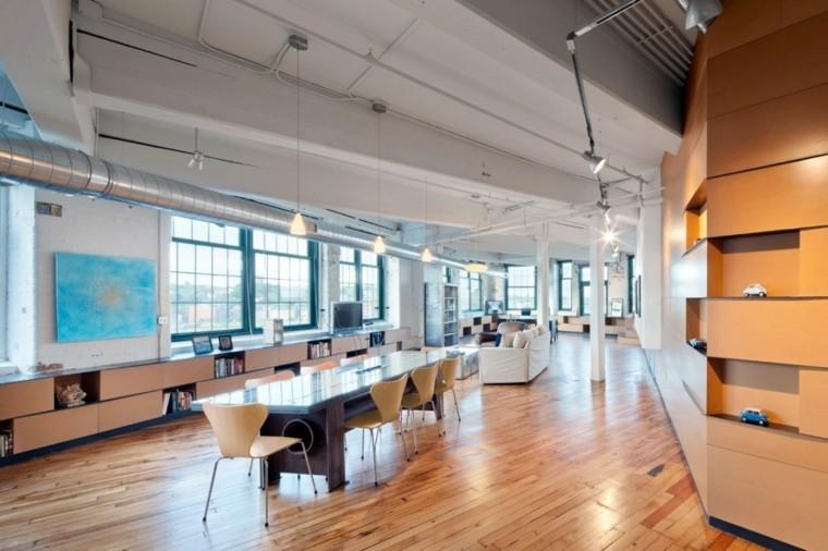 cuadro pared azul loft diseno moderno ideas