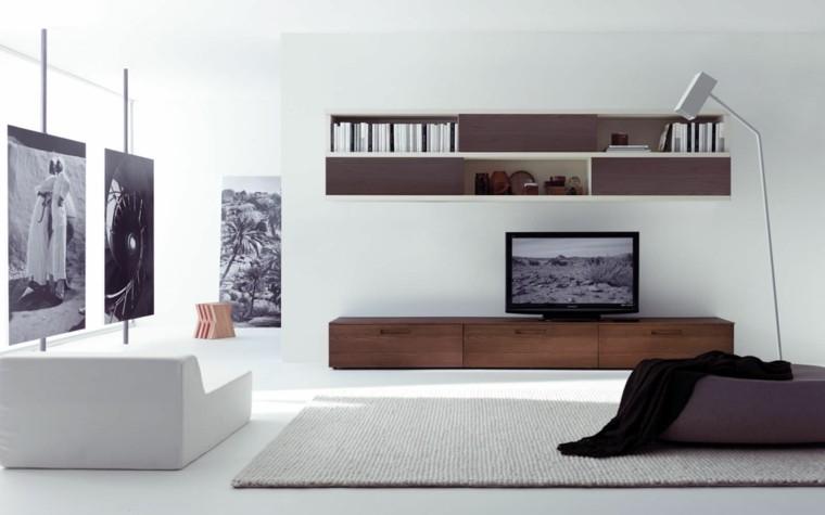 cafe muebles television lampara alfombra cuadros ambiente negro decoracion sillones