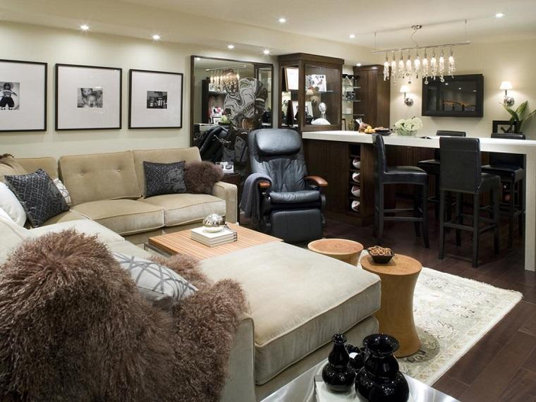 cuadros decorativos sofa butaca cuero ideas