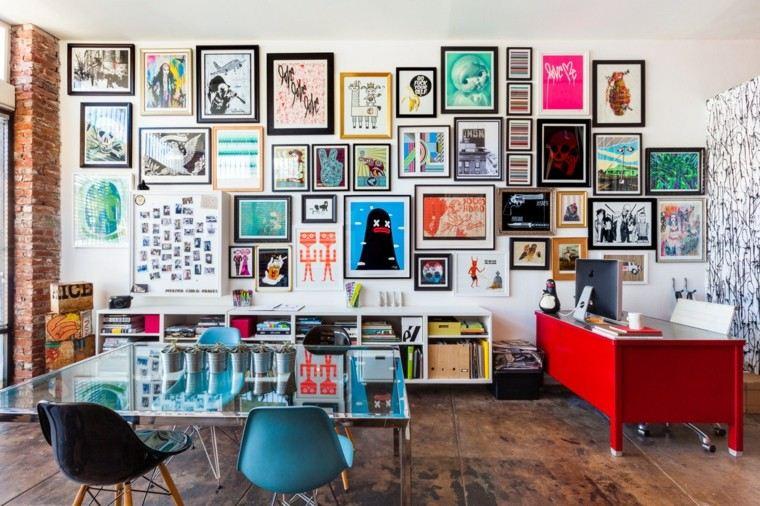 cuadros originales colorido creativo sillas