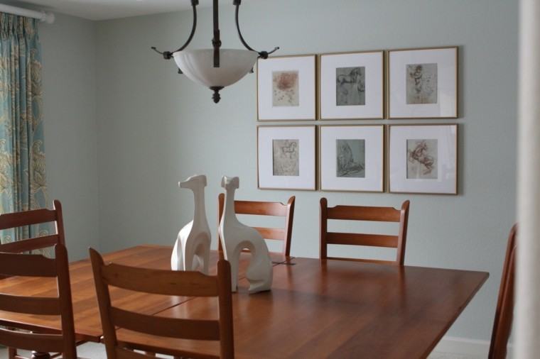 Cuadros originales propuestas en 25 ideas creativas - Dining room wall art ideas ...