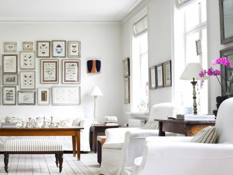 cuadros originales mesa madera mariposas