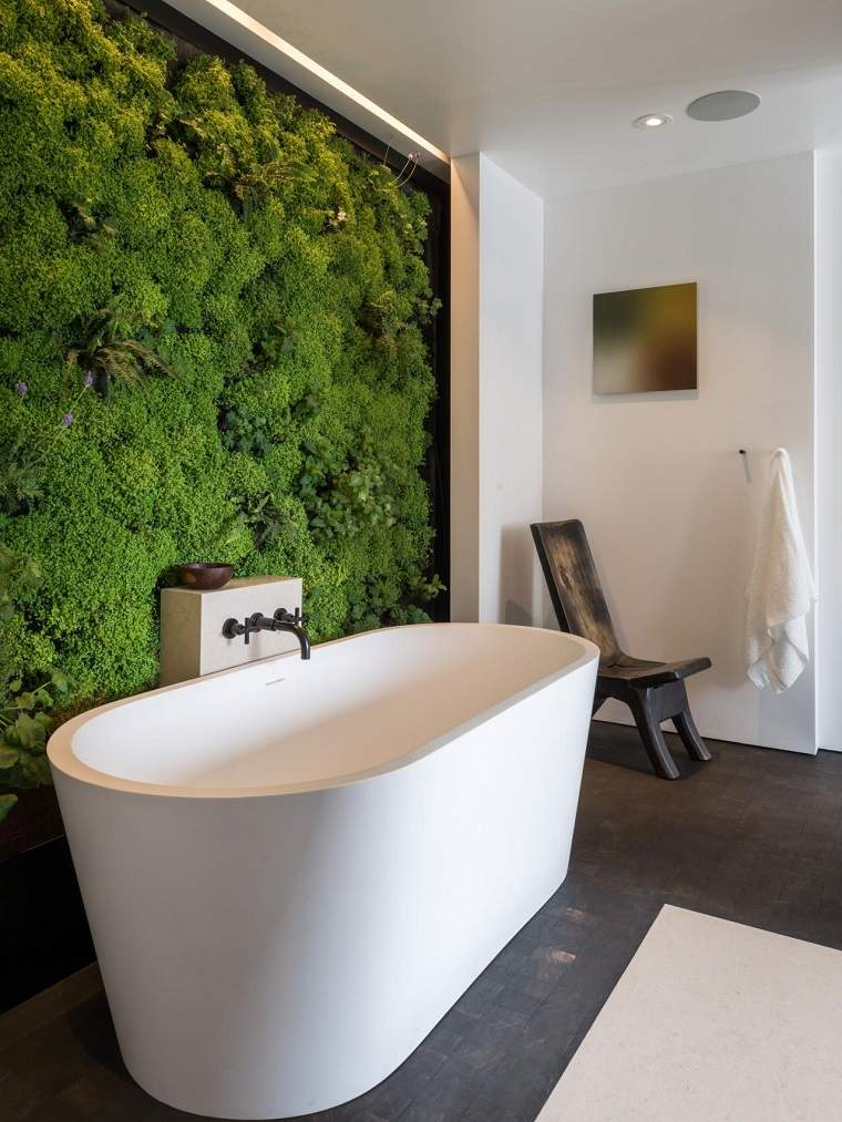 cuarto baño estilo minimalista diseno moderno jardin vertical ideas