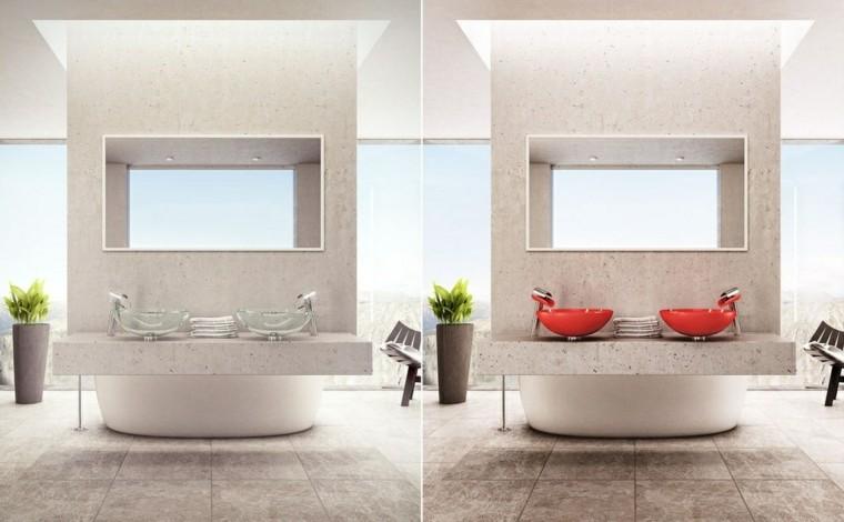 Baño Moderno Minimalista:Cuarto de baño con diseño moderno al estilo minimalista -