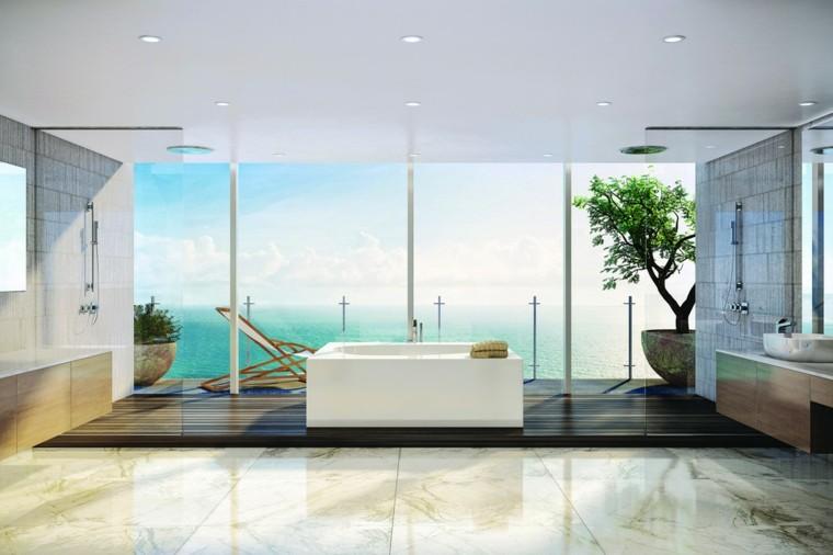 cuarto de baño estilo minimalista diseno moderno amplio ideas