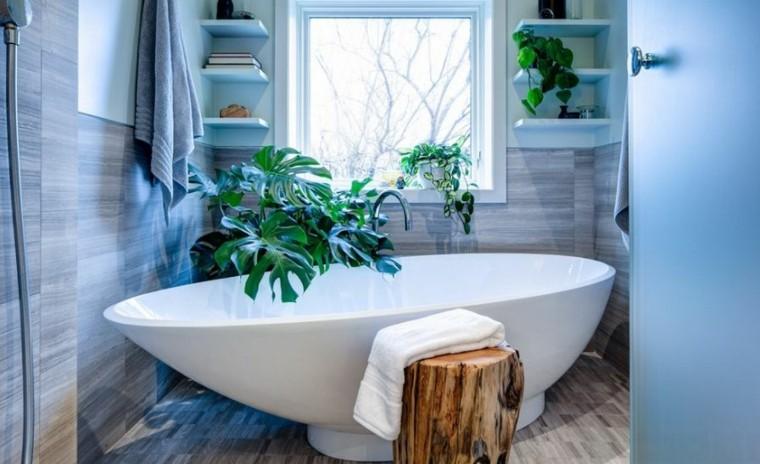 cuarto de baño estilo minimalista diseno moderno banera blanca ideas