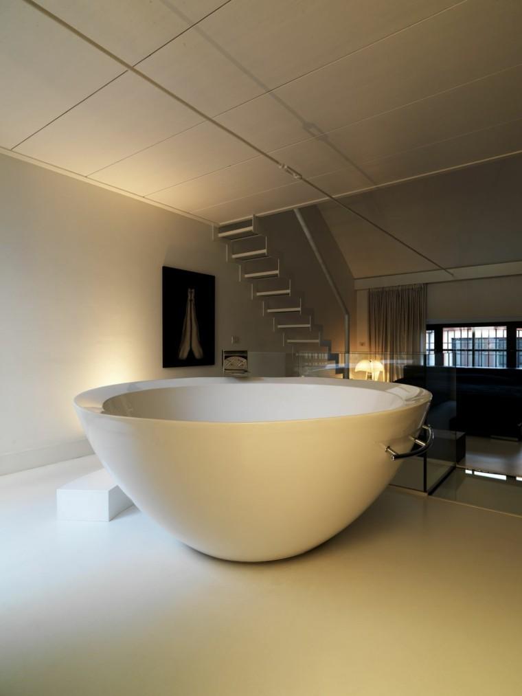 cuarto de baño estilo minimalista diseno moderno banera preciosa ideas