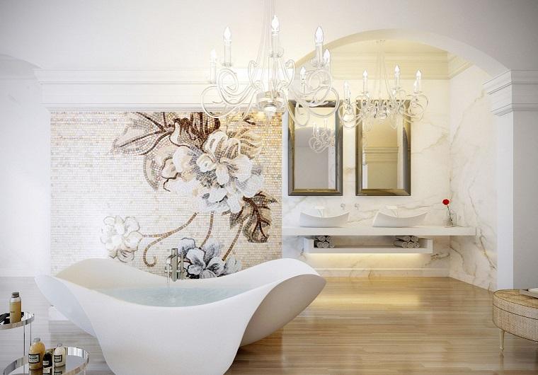 Cuarto de baño con diseño moderno al estilo minimalista