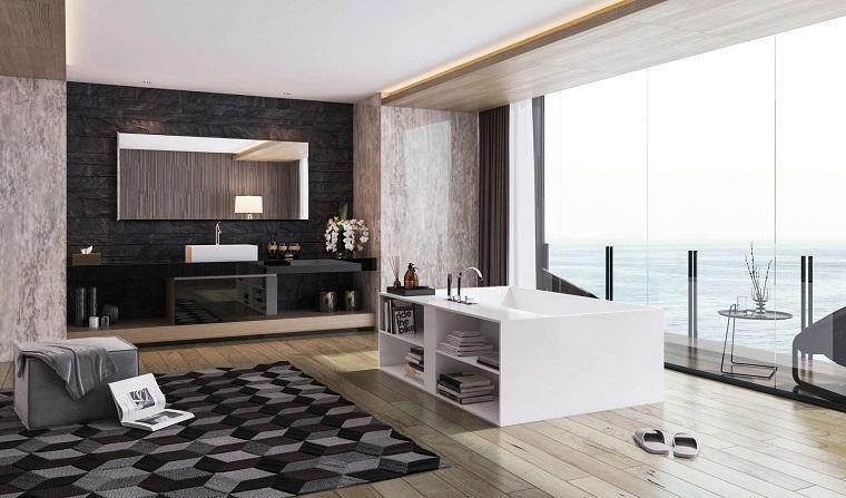 Diseno De Baño Minimalista:Cuarto de baño con diseño moderno al estilo minimalista -