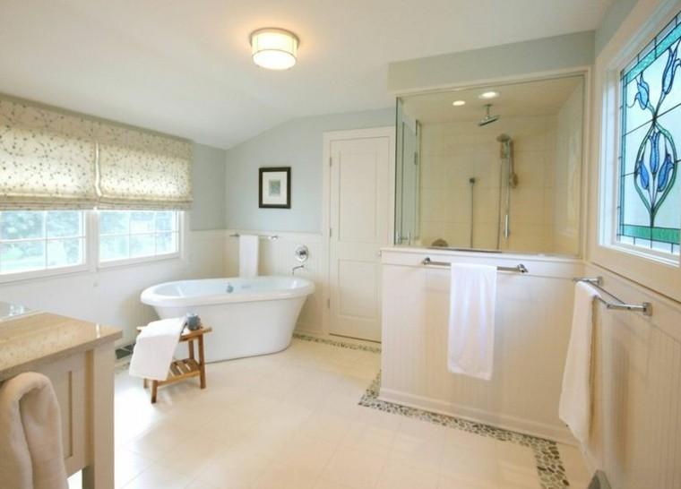 cuarto de baño estilo minimalista diseno moderno persianas ideas