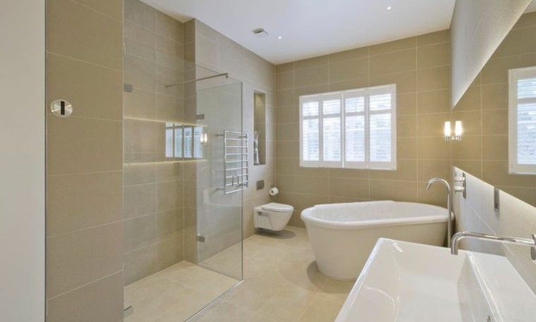 cuarto de baño estilo minimalista mampara ducha ideas