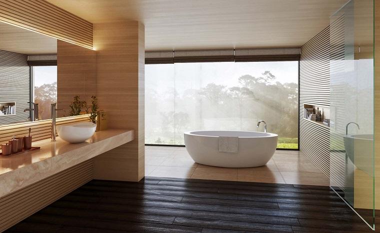 Cuarto de ba o con dise o moderno al estilo minimalista - Estilos de banos modernos ...