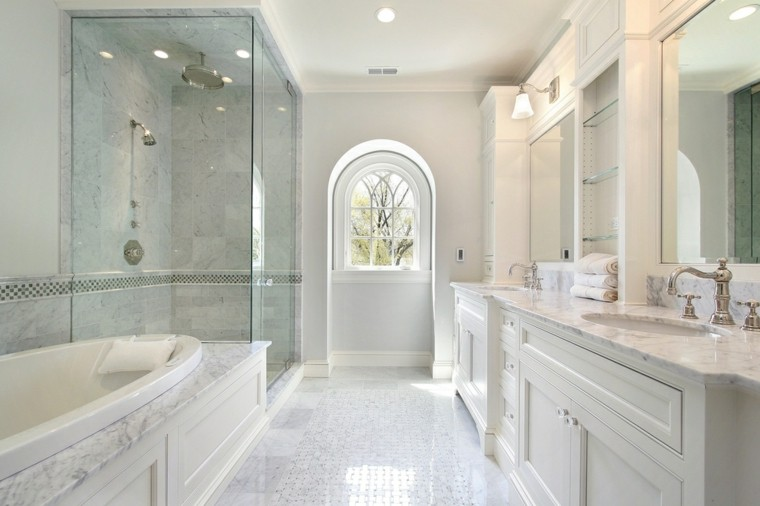 Ba os con ducha grande - Cuartos de bano de marmol ...
