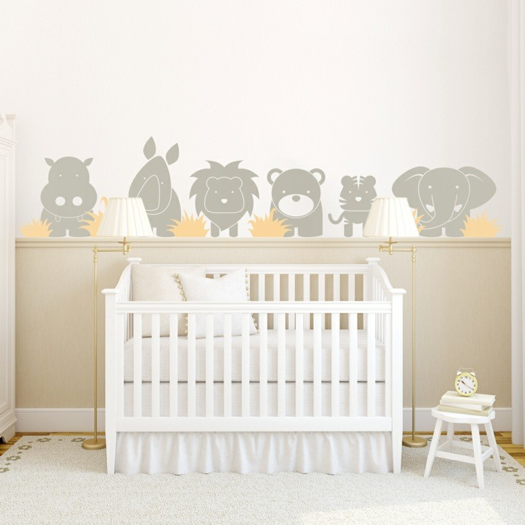 Decoracion habitacion bebe gris y blanco for Decoracion habitacion blanca