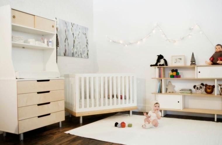 Decoracion habitacion bebe cincuenta dise os geniales - Decorar en blanco y madera ...