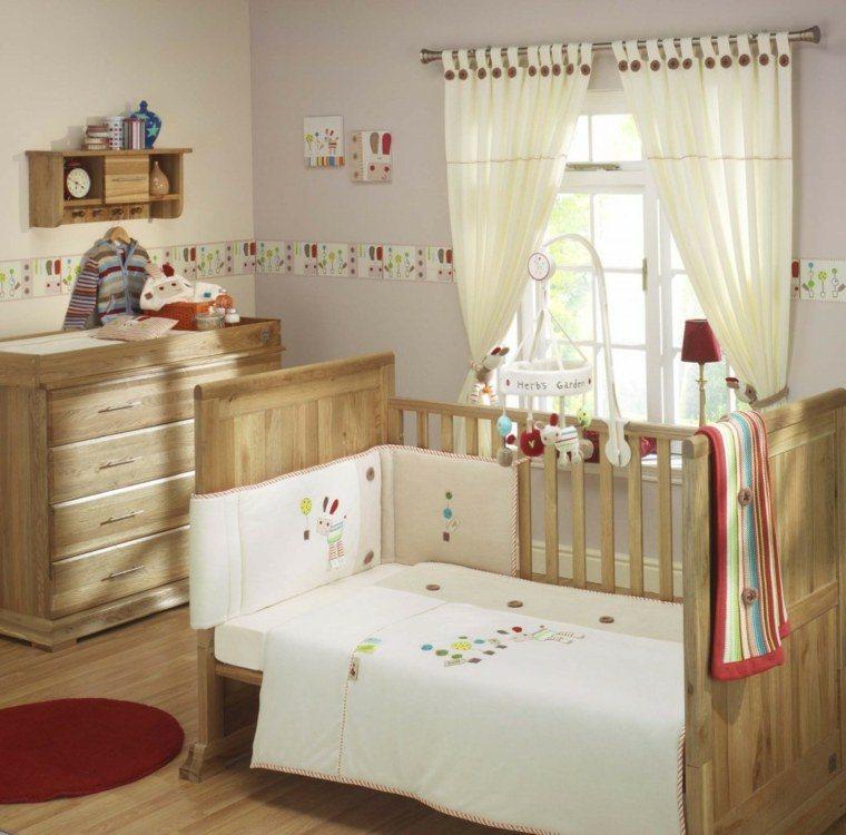 decoracion habitacion bebe muebles madera