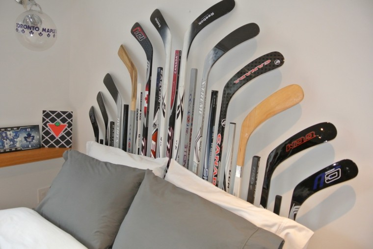 decoracion dormitorio palos hockey
