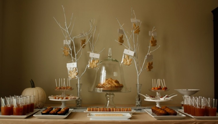 decoracion mesa dulces otoño