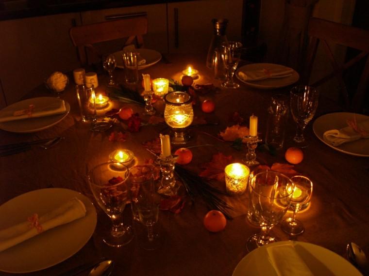 decoracion mesa mandarinas otoño