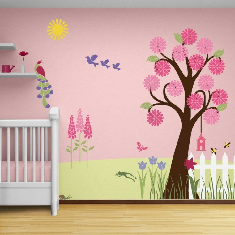 decoración pared papel pintado