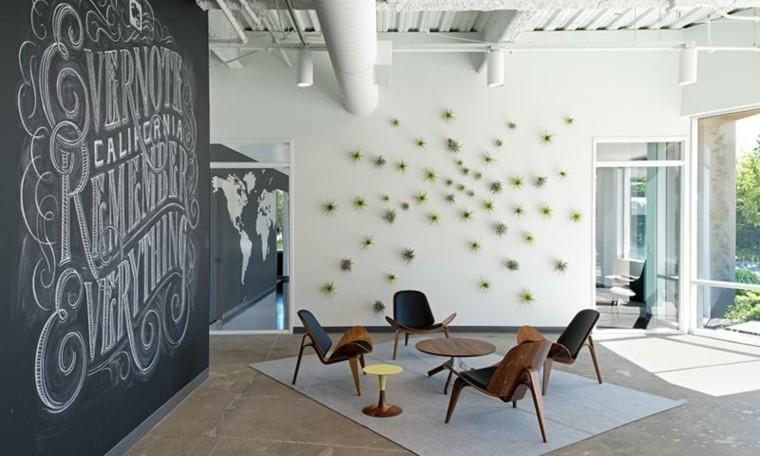 decorar paredes plantas pizarra
