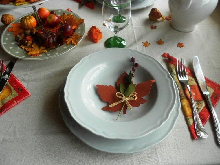 decoracion mesa pisajes de otoño
