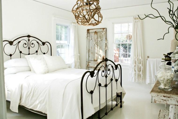 decoración retro cama negra