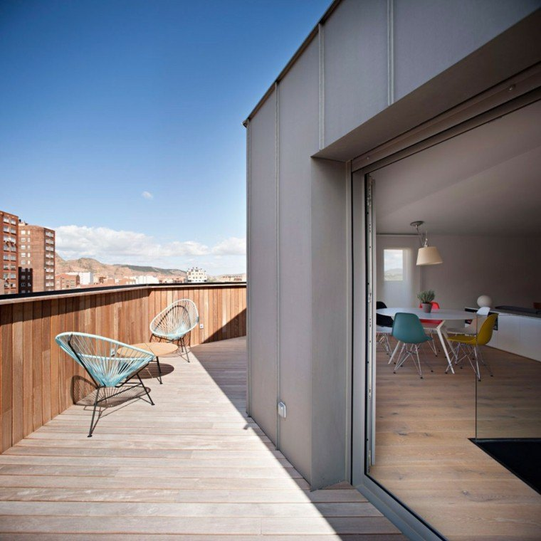 Decoracion terraza aticos dise os modernos de gran altura for Iluminacion terrazas aticos