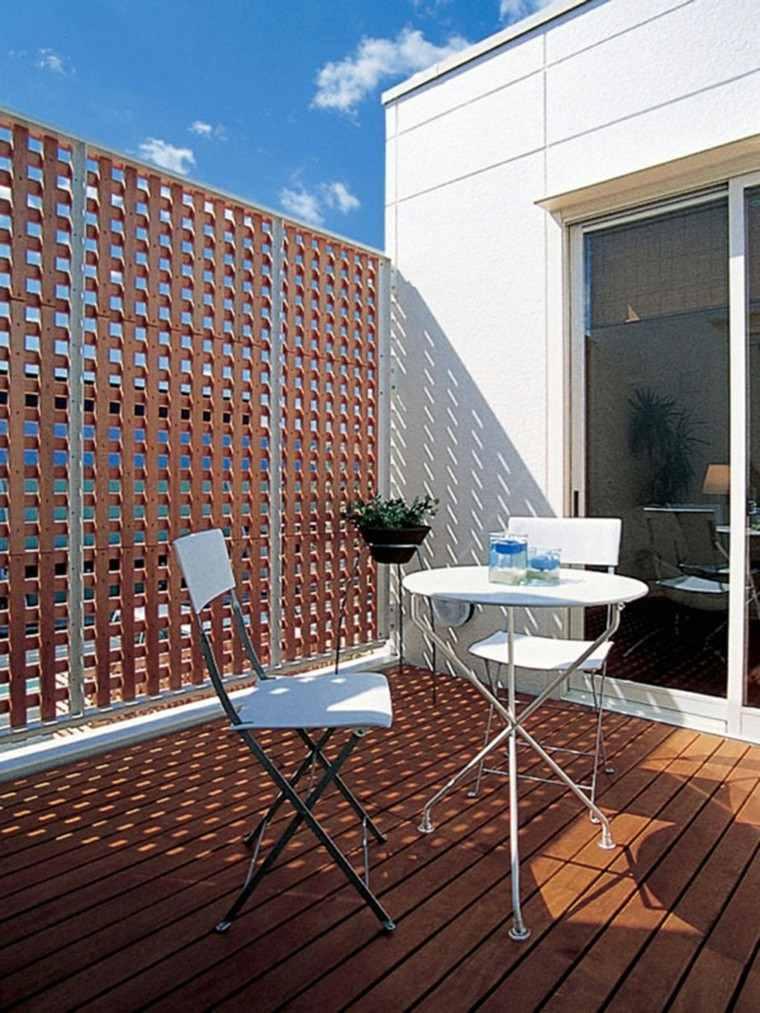 decoracion terraza aticos pequeña madera