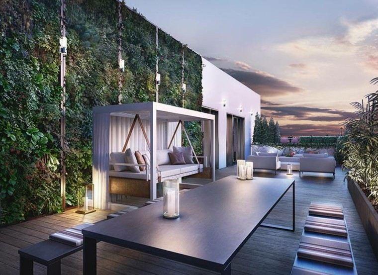 decoracion terraza pergola blanca decoracion terraza aticos asombrosos - Decorar Terraza Atico