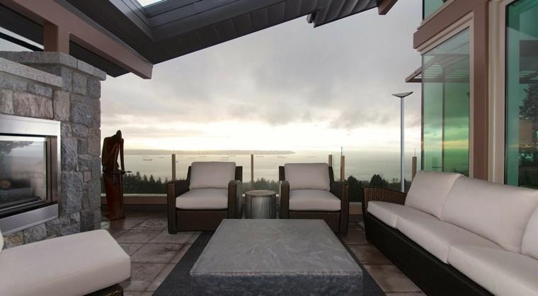 deco terraza sillones mimbre