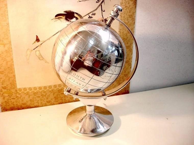 decoracion bellisima elegante casa globo plata ideas
