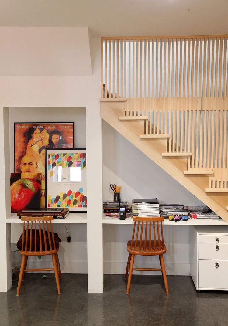 Decoracion Para Escaleras Interiores Simple Escaleras Con Mucho  # Muebles Debajo De Gradas