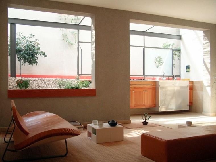 decoración de salones pequeños estilo zen ideas