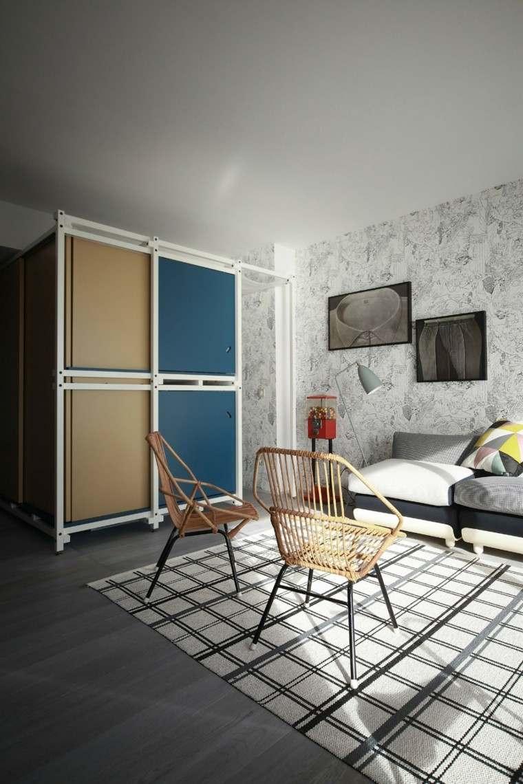 decoración de salones pequeños pared preciosa maquina caramelos ideas