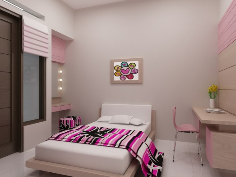 decoracion dormitorio infantil color rosa
