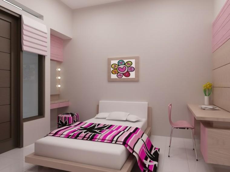 Ideas para decorar una casa cien ejemplos - Dormitorios color rosa ...