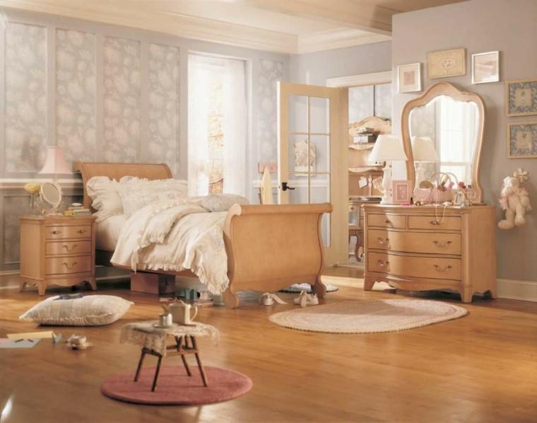 decoracion dormitorio estilo vintage madera