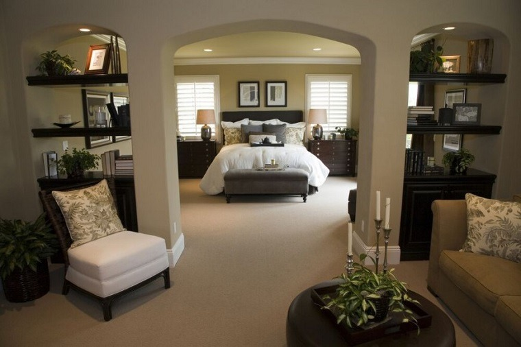 Decoraci n dormitorios matrimoniales 50 ideas elegantes Master bedroom retreat design ideas