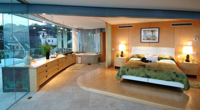 decoración dormitorios matrimoniales suelo madera ideas