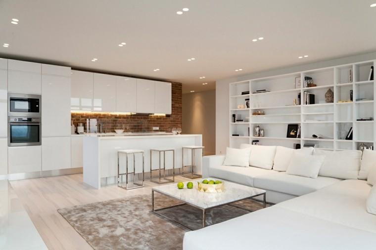 Decoraci n en blanco con muebles elegantes de dise o for Casa con muebles blancos