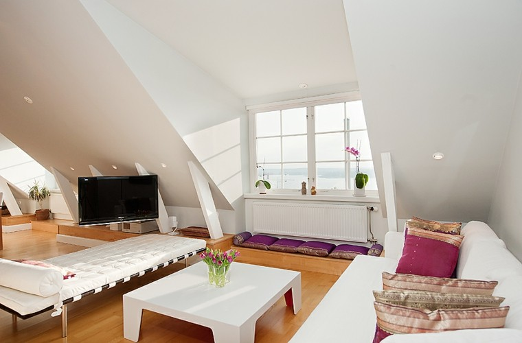 decoración en blanco sofa mesa preciosa ideas
